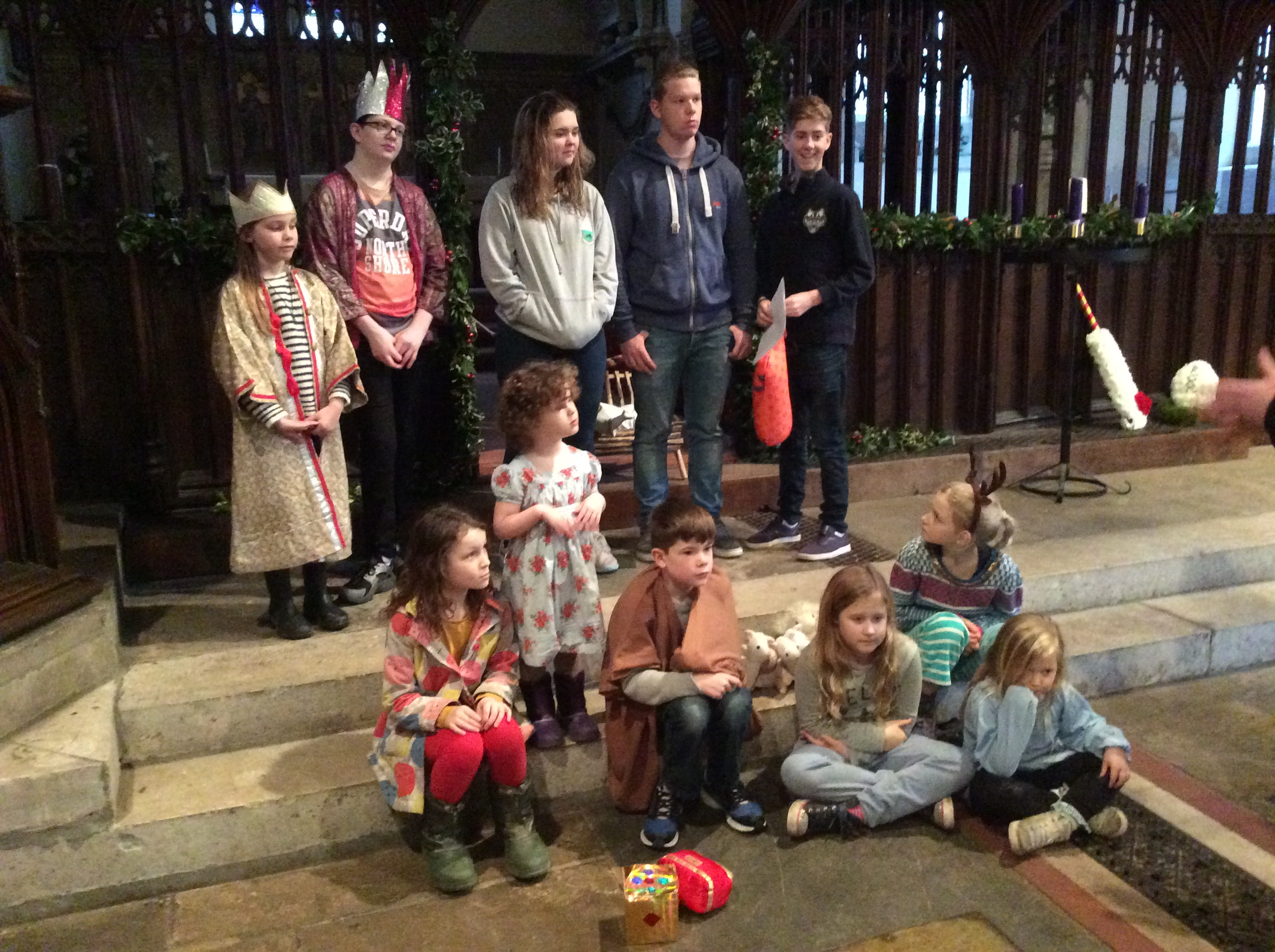 Nativity players at Christingle