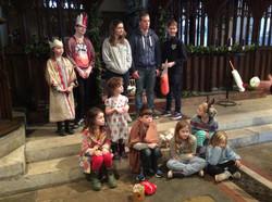 Nativity players at Christingle
