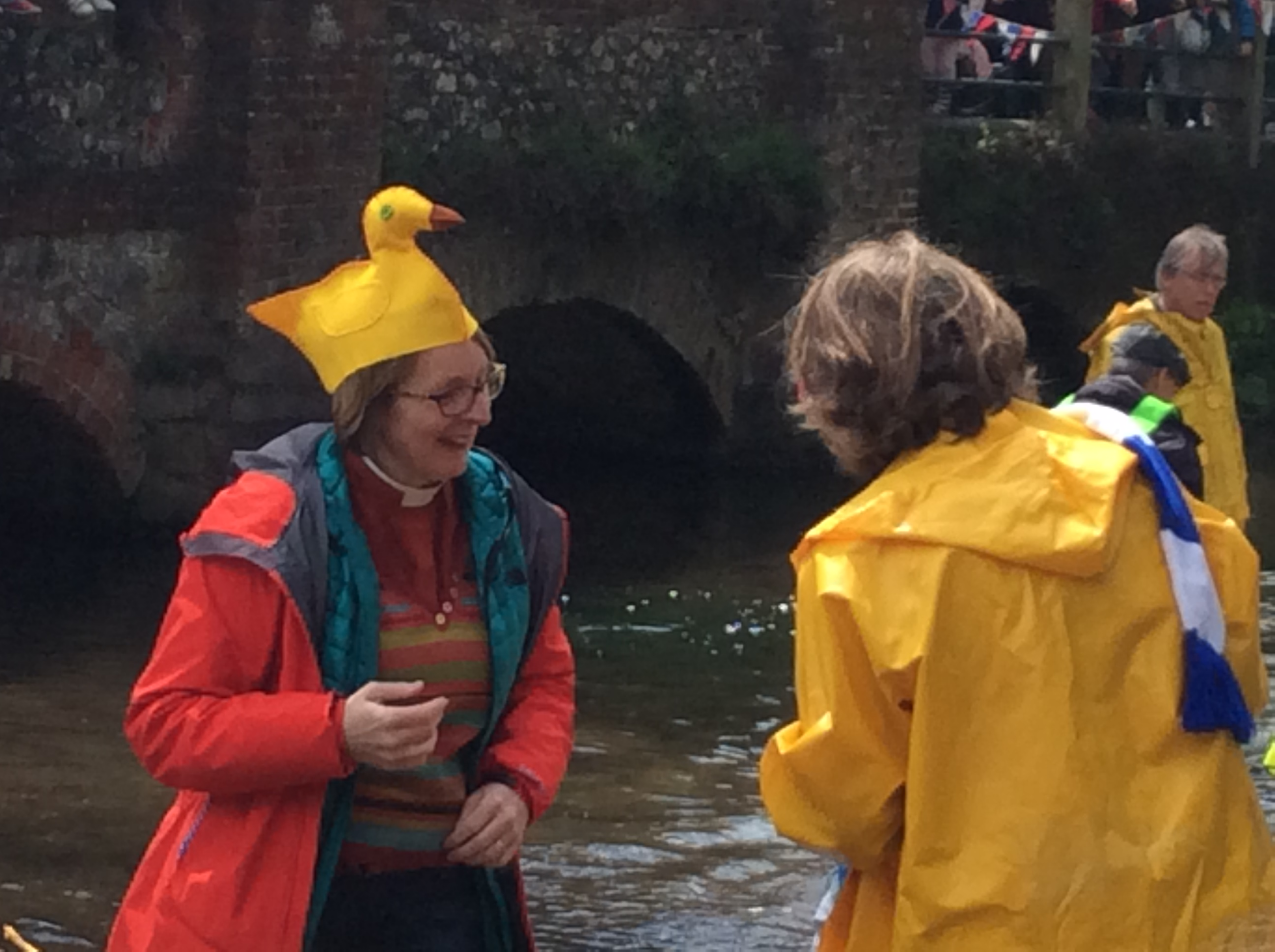 Judging the duck race
