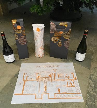 Bauble gift box (single bottle) & tissue paper wrap