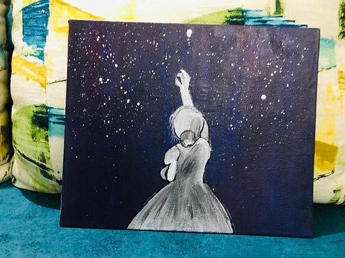 Fairy in a moonlight