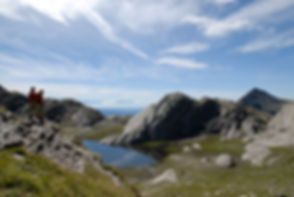 In rambling paradise Texel Group mountains hikers expect dreamlike Spronser lakes