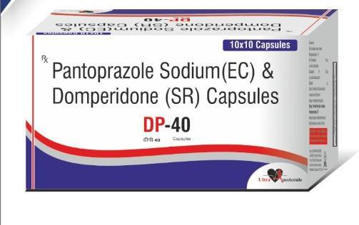 DP-40 Pantoprazole Sodium (EC) & Domperidone(SR) Cap