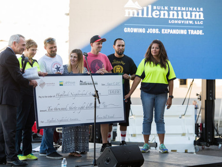 HUNDREDS GATHER TO CELEBRATE MILLENNIUM AND HIGHLANDS NEIGHBORHOOD ASSOCIATION