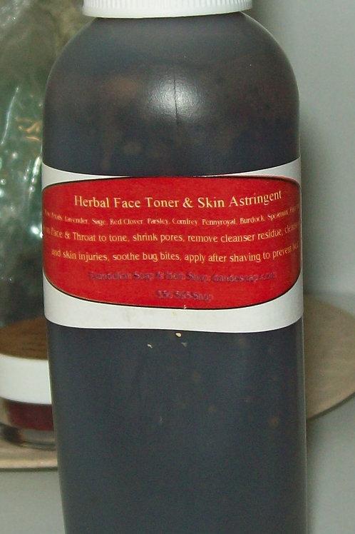 7 Herb Face Toner  5 oz Bottle