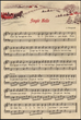 Free Printable Music Sheet and Vintage Gift Tags to make your own vintage Christmas Ornaments
