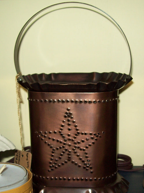 Copper Quilted Star Electric Wax Warmer Lantern