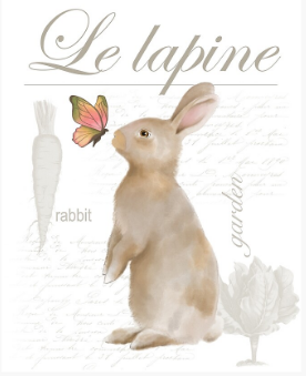 Le Lapine Photo for Fabric Printing