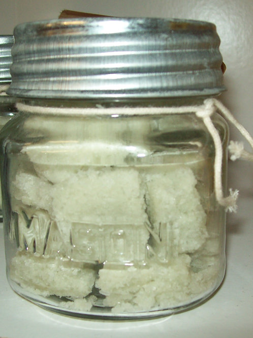 Body Bath Salt Cubes 1 lb glass Mason Jar