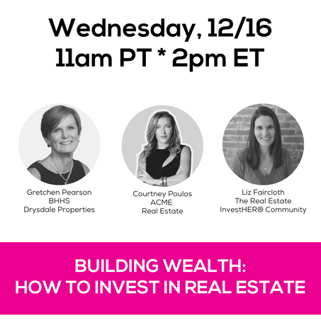 Join these three powerhouses as they share their investment journies, the different types of real estate investments, and tips on how to determine your comfort level with risk will help you decide if including real estate in your investment portfolio is the right fit for you.