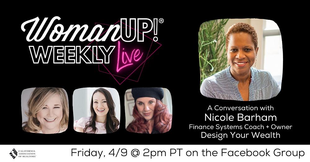 WomanUP!® Weekly Live with Nicole Barham