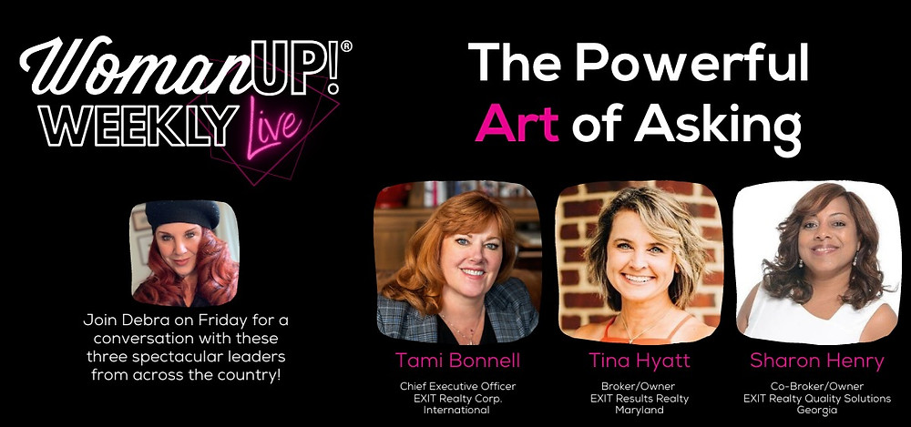 WomanUP!® Weekly Live with Tami Bonnell, Tina Hyatt, and Sharon Henry
