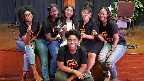 Young christian women smiling!