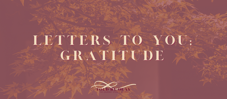 Letter to You; Gratitude