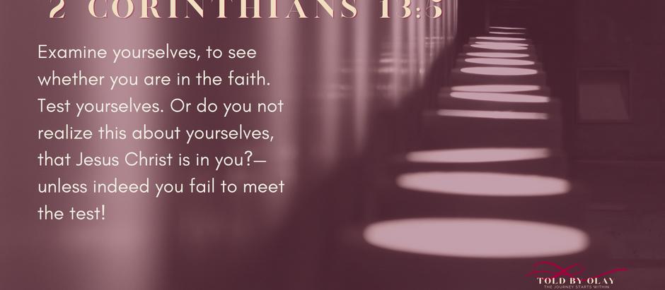 December - Reflection - 2 Corinthians 13:5