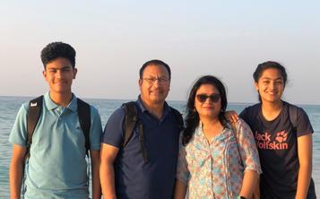 Ranjan Prakash Shrestha and his family
