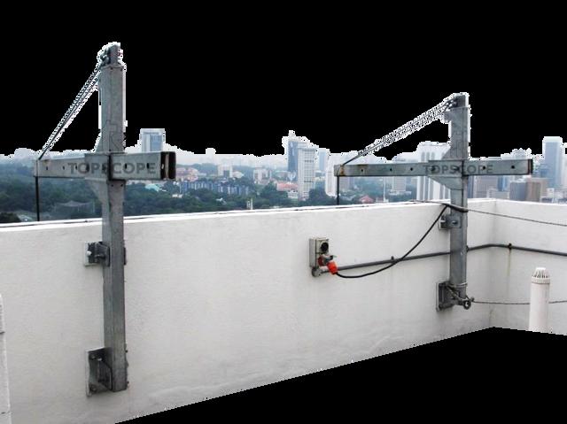 davit system davit arm gondola cradle platform rope access abseil