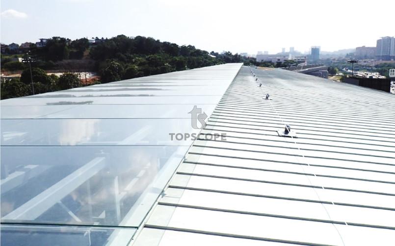Latchways, Malaysia, mansafe, fall arrest, fall restraint, fall protection, safety line, standing seam, metal deck roof, lysaght, kliplok