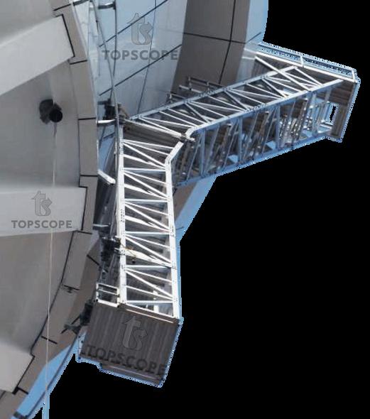 monorail system koltek noracon rostek aluminium track trolley abseil rope access EN1808 gantry ladder platform
