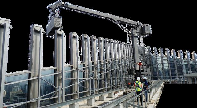 BMU, gondola, Malaysia, Atech, facade access, window washer, cradle, platform, davit, monorail, aluminium, suspend, hoist, GRU EN1808