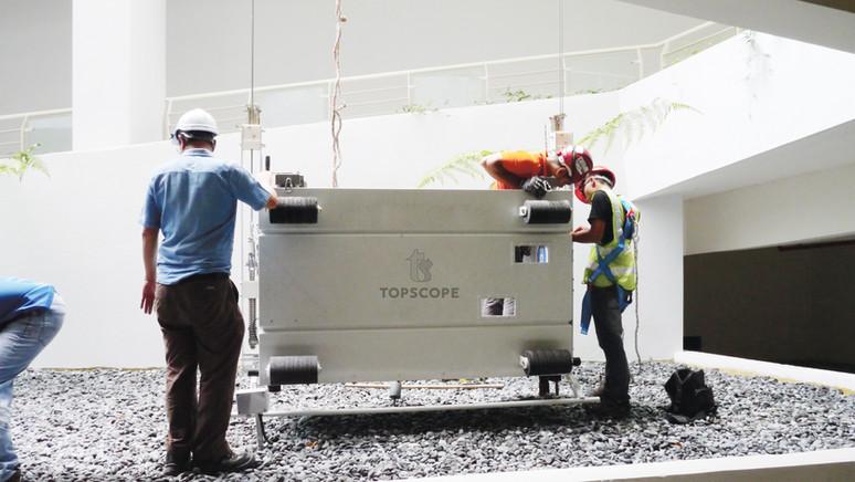 BMU gondola service repair davit monorail system malaysia