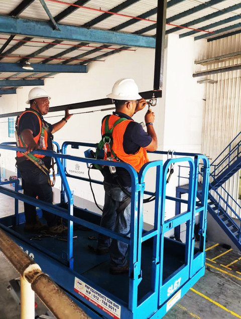 Latchways, Malaysia, mansafe, fall arrest, fall restraint, fall protection, safety line, lifeline, life line, safety, equipment, PRD, CFP, SRL