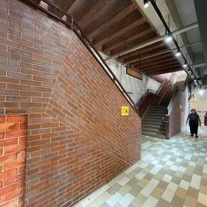 利東臨時街市出入口對出行人通道將會進行地磚重鋪工程