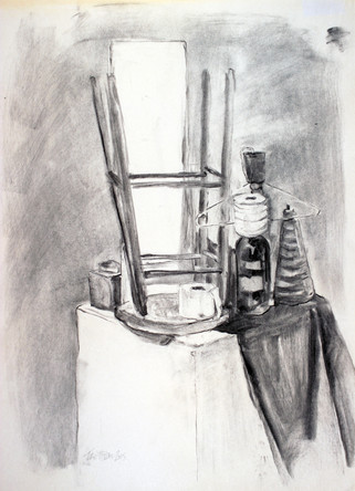 charcoal on newsprint  24 x 18 inches  2015