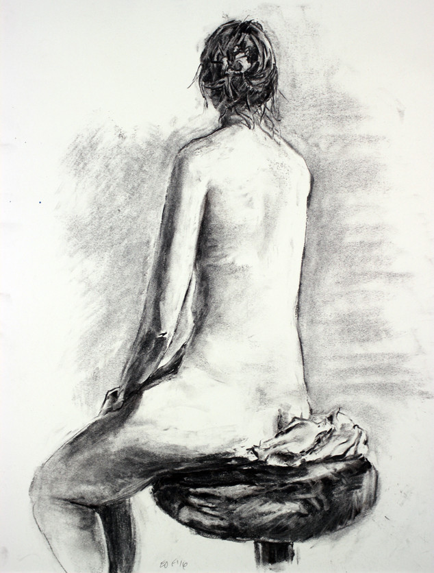 charcoal on newsprint, 24x18in, 2016