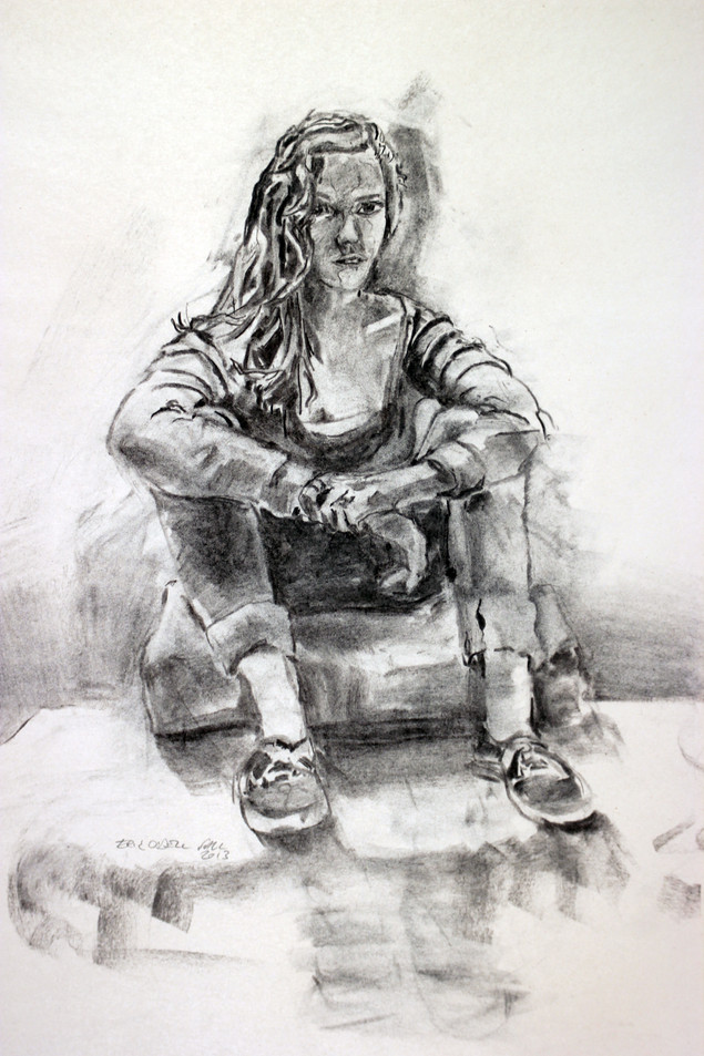 charcoal on newsprint, 24x18in, 2014
