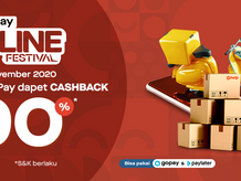 GOF: Gopay Online Festival, Cashback 90%, Transaksi Via Aplikasi Wehelpyou!