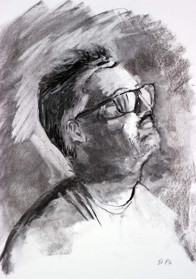 charcoal on paper, 17x14in, 2016