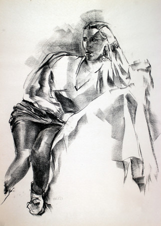 charcoal on newsprint  24 x 18 inches  2014