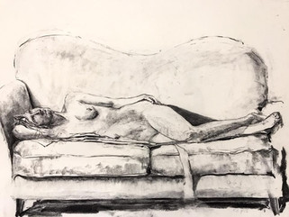 charcoal on paper  18 x 24 inches  2018