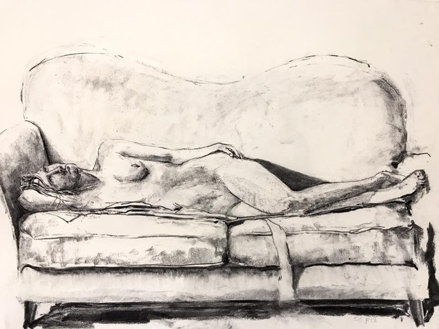 charcoal on paper, 18x24in, 2018