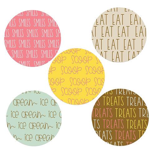 Ice Cream Wishes 2-inch Circles