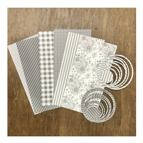 Farmhouse (Gray & White) Paper & Die Pack