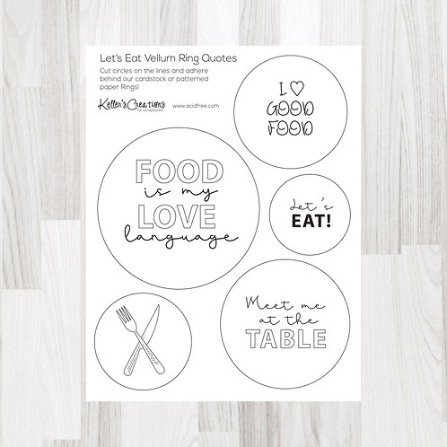 Let's Eat Ring Quotes