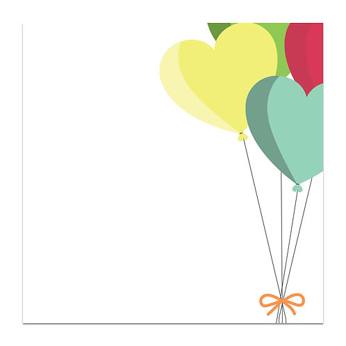 Balloons - 5x5 Simple Note