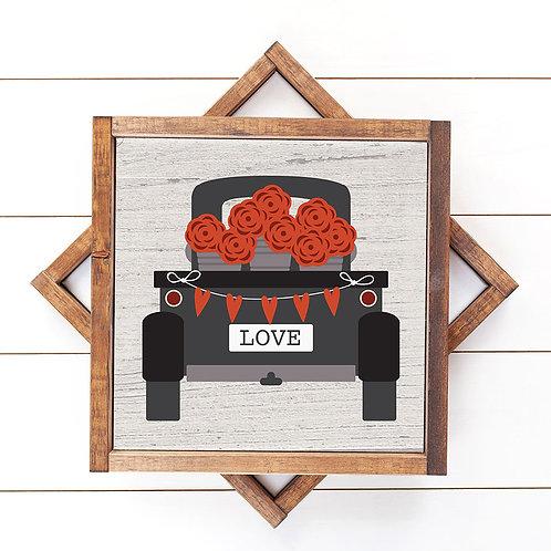 Valentine Roses Truck Print