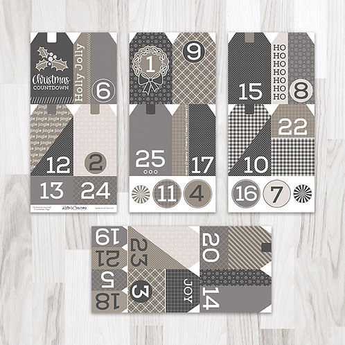 Christmas (Neutral) Countdown Tags