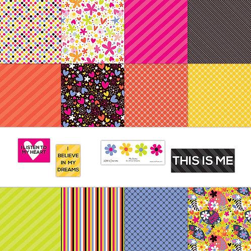 My Story (Bright)  4x4 Fun Sheets