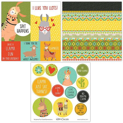 A Llama Fun Card Connections