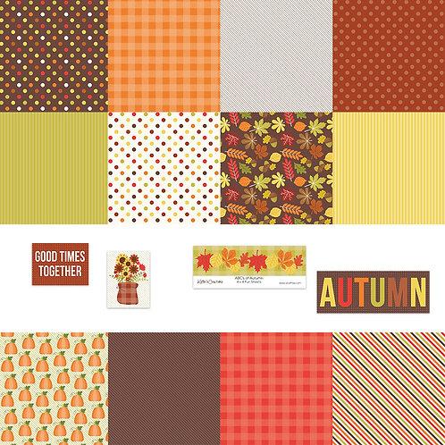 ABCs of Autumn 4x4 Fun Sheets