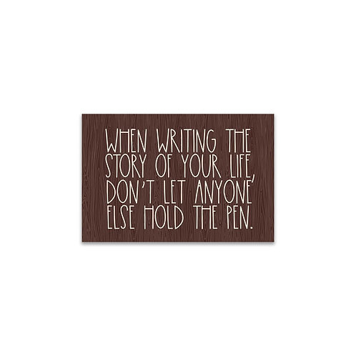 Writing the Story of Your Life... Flash Card