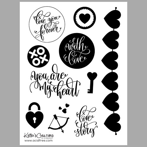 Love Story 6x8 Stamp Set