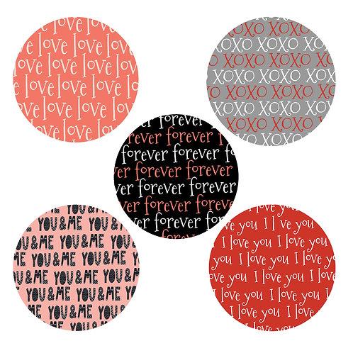 Love You Lots 2-inch Circles