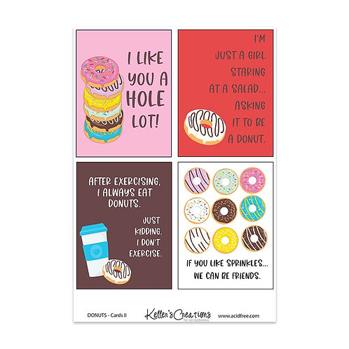 """Donuts II-3x4"""" Cards"""