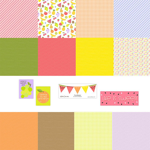 Fruit Basket 4x4 Fun Sheets
