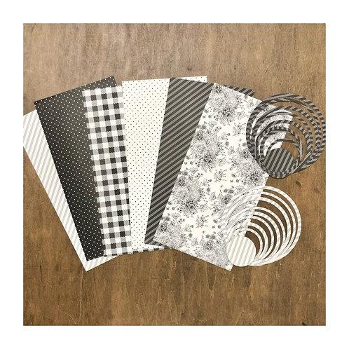 Farmhouse (Black & White) Paper & Ring Pack